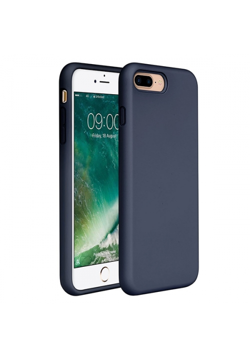 Θήκη για Apple iPhone 7 Plus/8 Plus Tpu Liquid Silicone Dark Blue