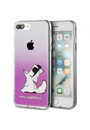 Θήκη για Apple iPhone 7 Plus/8 Plus Faceplate Karl Lagerfeld Clear Pink KLHCI8LCFNRCPI