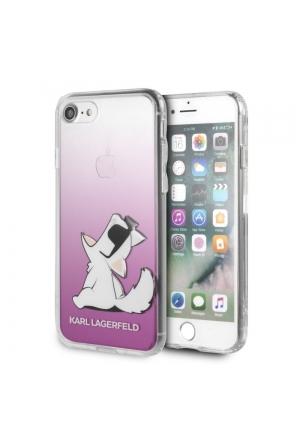 Θήκη για Apple Iphone 7/8 Faceplate Karl Lagerfeld Clear Pink KLHCI8CFNRCPI