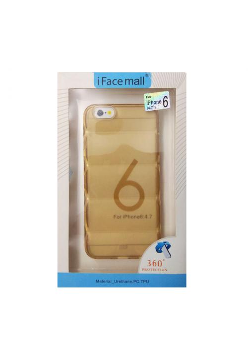 Θήκη για Apple Iphone 6/6S Tpu Facemail Gold