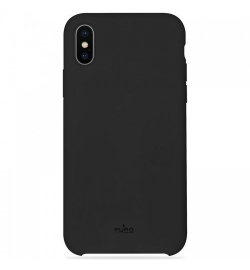 Θήκη για Apple Iphone X Puro Silicone Black IPCXICONBLK