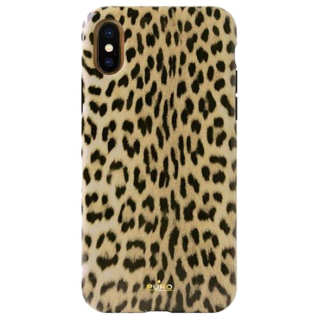 Θήκη για Apple Iphone X / XS Puro Glam Leopard IPCXCLEO1BLK