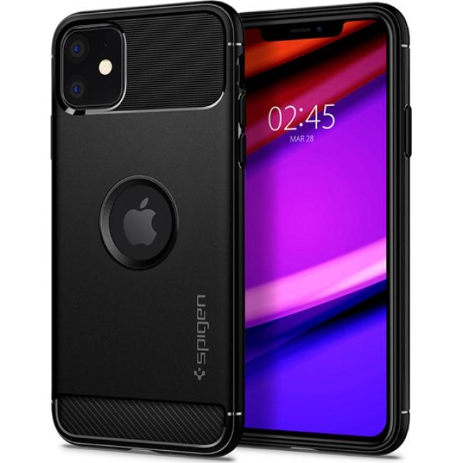 Θήκη για Apple Iphone 11 Spigen Rugged Armor Matte Black (076CS27183)