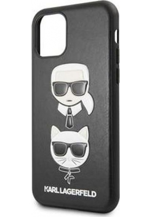 Θήκη για Apple Iphone 11 Karl Lagerfeld Faceplate Black (KLHCN61KICKC)