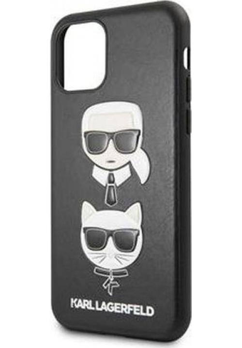 Θήκη για Apple Iphone 11 Karl Lagerfeld Faceplate Black (KLHCN61KICKC)