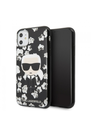 Θήκη για Apple Iphone 11 Karl Lagerfeld Black KLHCN61FLFBBK