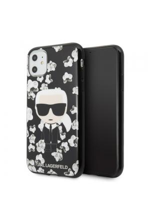 Θήκη για Apple Iphone 11 Karl Lagerfeld Black KLHCN61FLFBBK