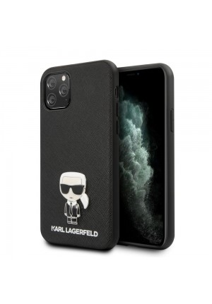 ΘΗΚΗ ΓΙΑ  IPHONE 11 PRO MAX FACEPLATE KARL LAGERFELD KLHCN65IKFBMBK BLACK