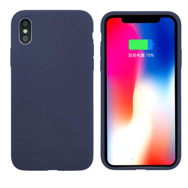 Θήκη για Apple Iphone Xs Max Tpu Liquid Silicone Dark Blue