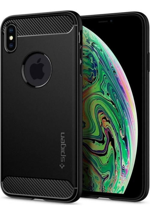 Θήκη για Apple Iphone Xs Max Spigen Rugged Matte Black (065CS25125)