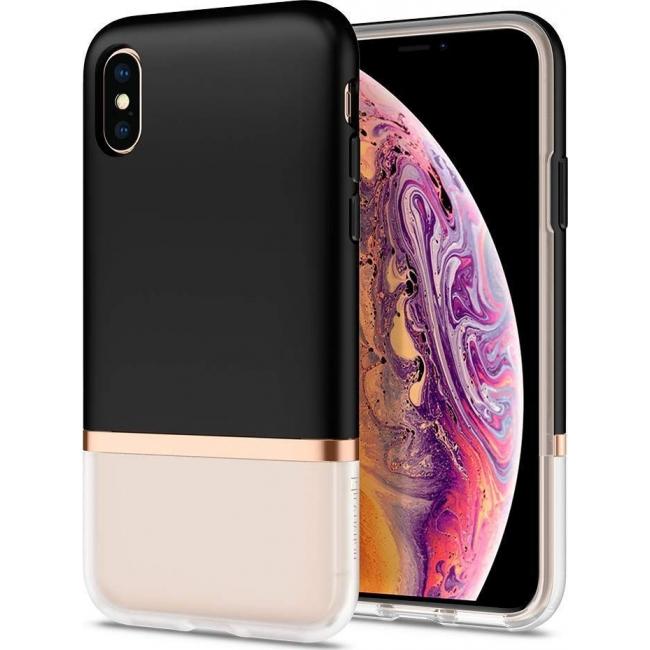 Θήκη για Apple Iphone Xs Max Spigen La Manon Jupe Milk Black (065CS25370)