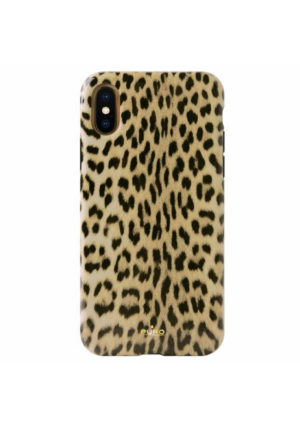 Θήκη για Apple Iphone Xs Max Puro Glam Leopard IPCX65LEO1BLK
