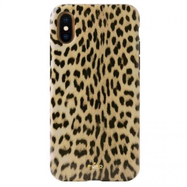 Θήκη για Apple Iphone Xs Max Puro Glam Leopard IPCX65LEO1BLK
