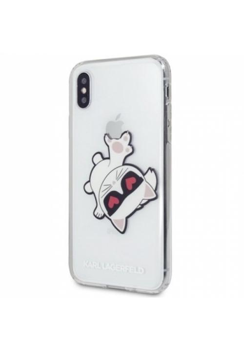 Θήκη για Apple Iphone Xs Max Karl Lagerfeld Faceplate Clear (KLHCI65CFHE)