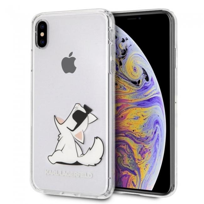 Θήκη για Apple Iphone Xs Max Karl Lagerfeld Faceplate Clear (KLHCI65CFNRC)