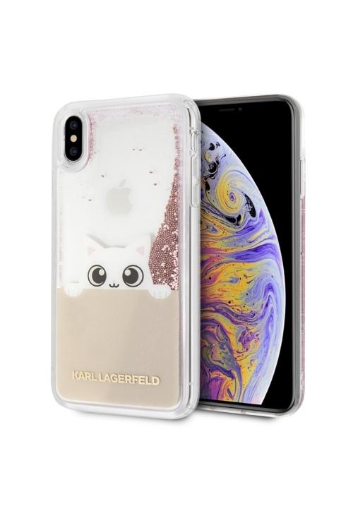 Θήκη για Apple Iphone Xs Max Karl Lagerfeld Faceplate Liquid Pink (KLHCI65PABGNU)