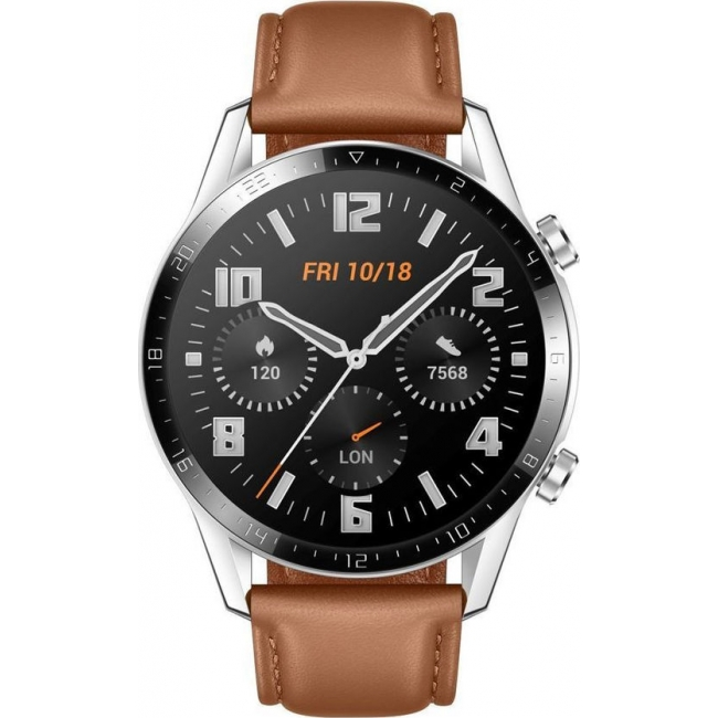 HUAWEI WATCH GT 2 46mm CLASSIC LEATHER BROWN EU