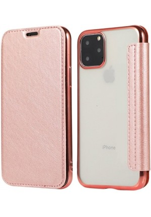 ΘΗΚΗ ΓΙΑ HUAWEI Y6P FORCELL ELECTRO BOOK ROSE GOLD
