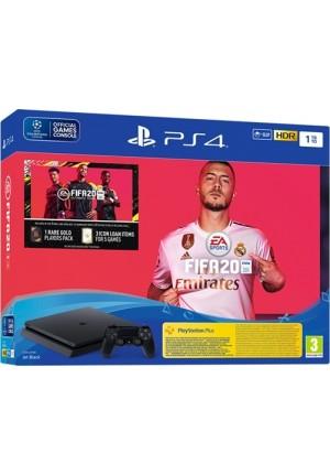 SONY PLAYSTATION 4 PS4 SLIM 1TB+FIFA 20 F CHASSIS BLACK EU
