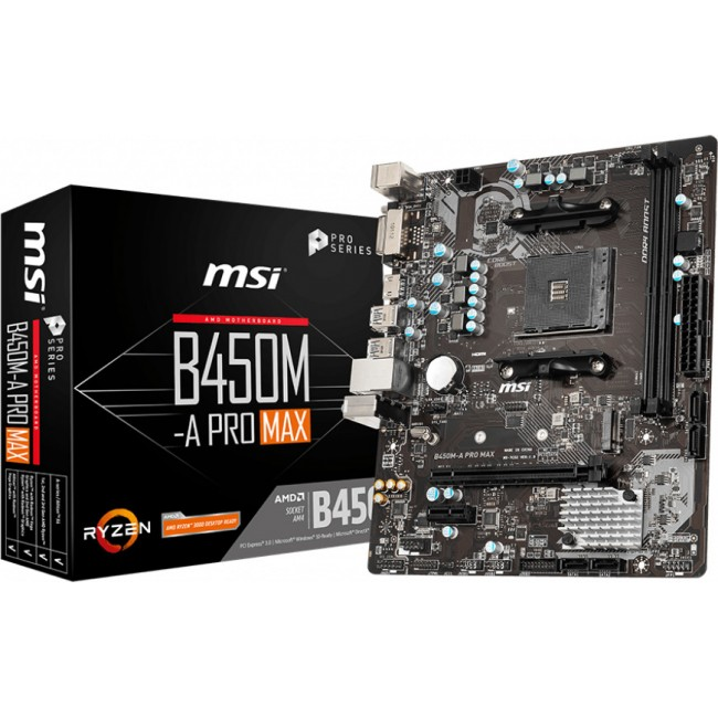 MOTHERBOARD MSI B450M-A PRO MAX AM4 AMD 7C52-001R