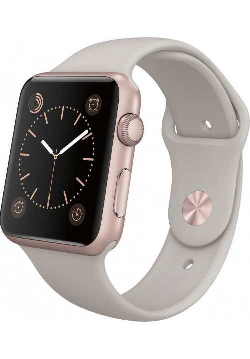 APPLE WATCH SPORT 42mm MLC62LL/A ROSE GOLD/STONE (ΜΕ ΑΝΤΑΠΤΟΡΑ) EU