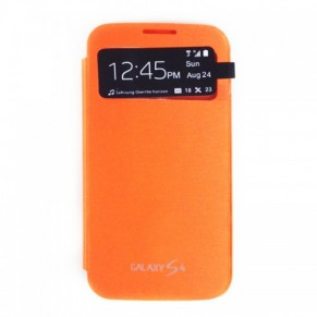 Samsung Flip Cover S-View Galaxy S4 Mini Orange