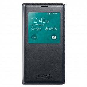 Samsung Flip Cover S-view for Galaxy S5 Black