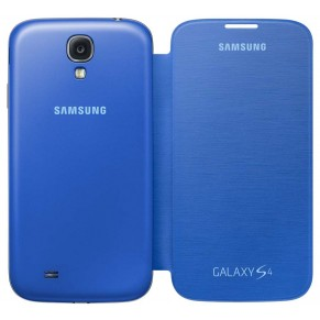 Samsung Flip Cover for Galaxy S4 EF-FI950BC Light Blue