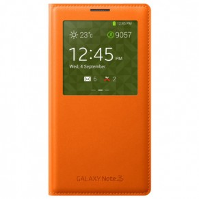 Samsung Flip Cover S-View for Note 3 Orange