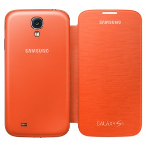 Samsung Flip Cover for Galaxy S4 Orange