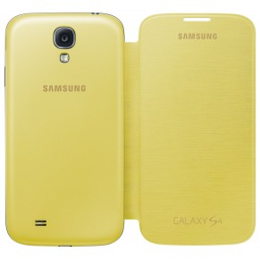 Samsung Flip Cover for Galaxy S4 Yellow