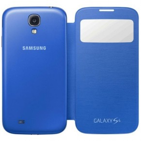 Samsung Flip Cover S-View for Galaxy S4 EF-CI950BC Light Blue