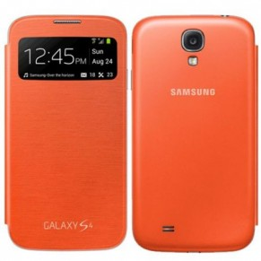 Samsung Flip Cover S-View for Galaxy S4 EF-CI950BL Orange