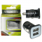 USB DUAL CHARGER mini VOLTETEL VCU33 3300mA BLACK