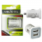 USB DUAL CHARGER mini VOLTETEL VCU33 3300mA WHITE